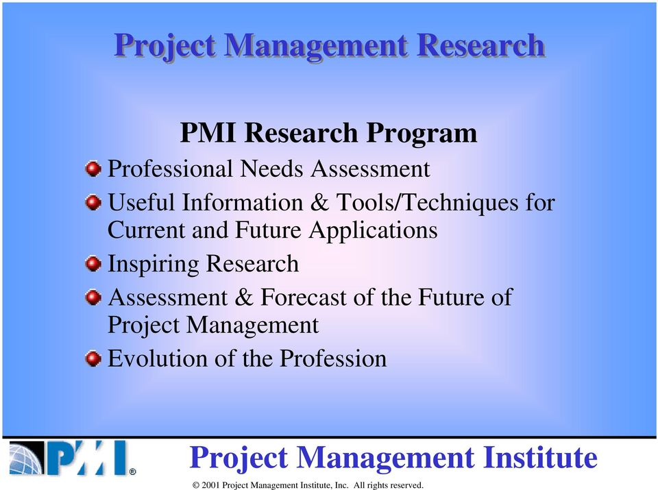 Current and Future Applications Inspiring Research Assessment &