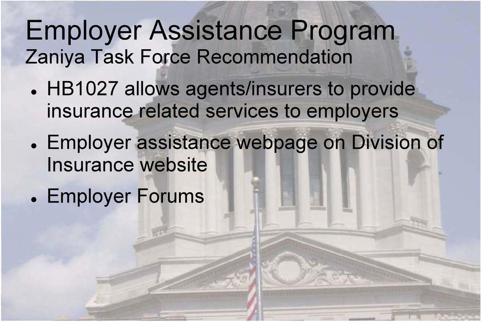 provide insurance related services to employers