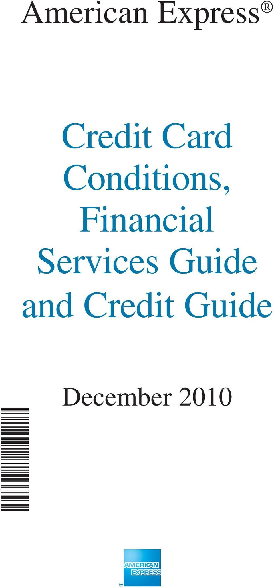 Services Guide and Credit