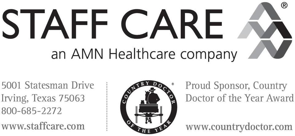 com Proud Sponsor, Country Doctor