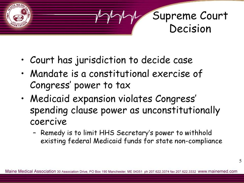 Congress spending clause power as unconstitutionally coercive Remedy is to limit
