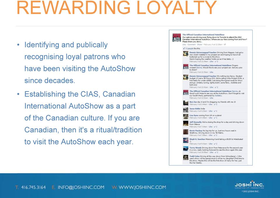 Establishing the CIAS, Canadian International AutoShow as a part of the