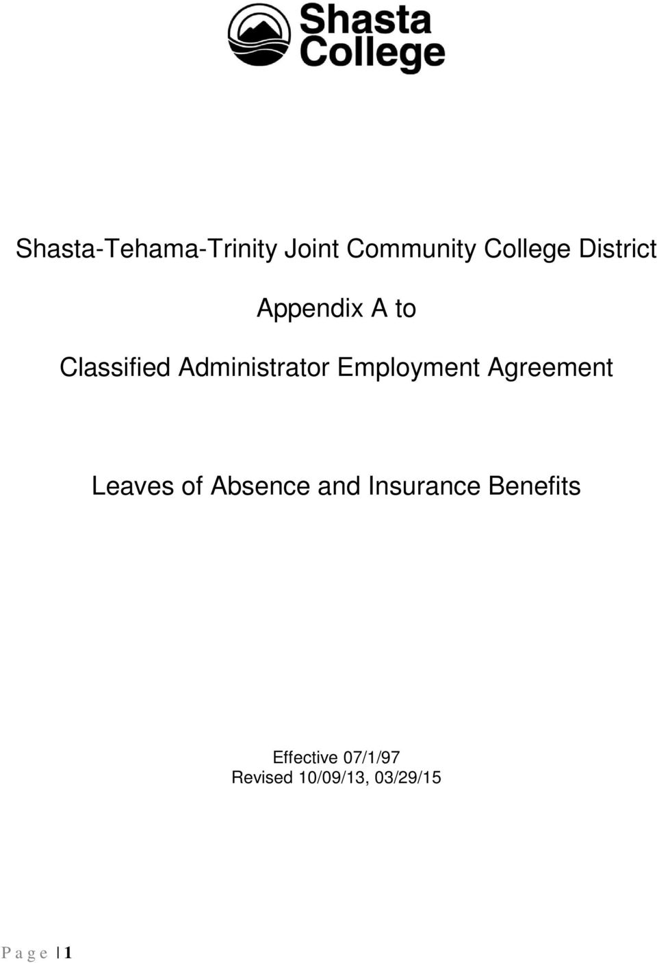 Employment Agreement Leaves of Absence and