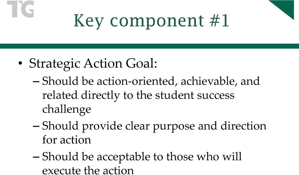 student success challenge Should provide clear purpose and