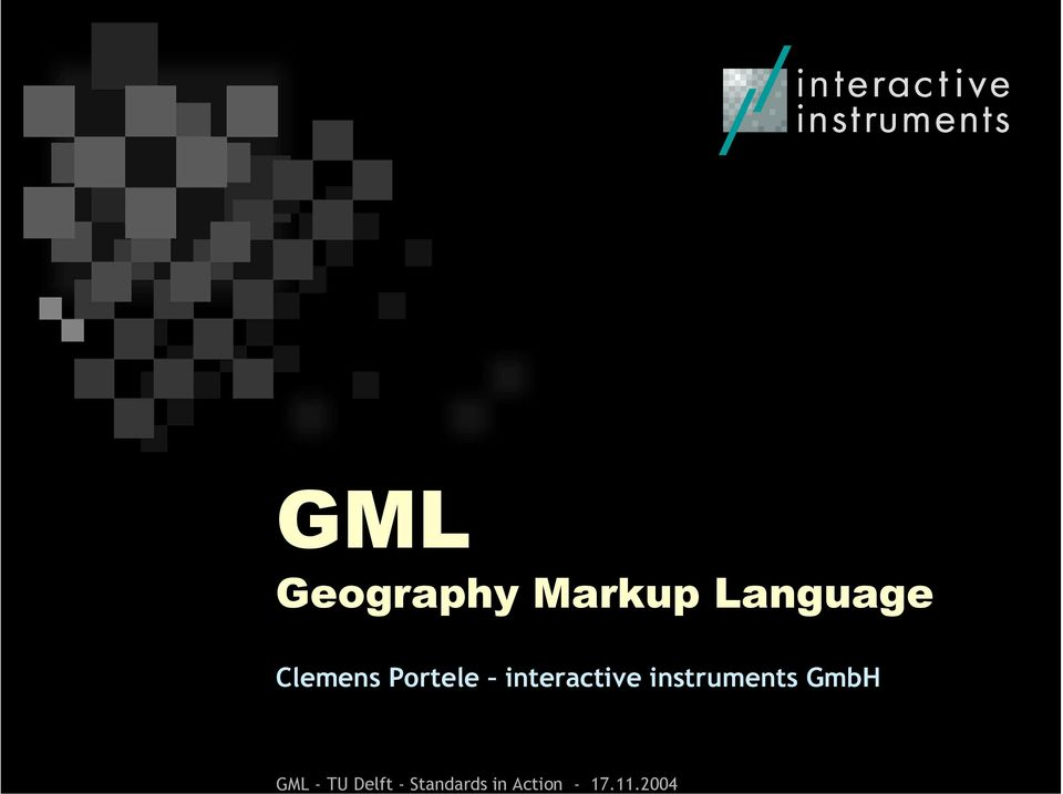 2004 GML Geography Markup