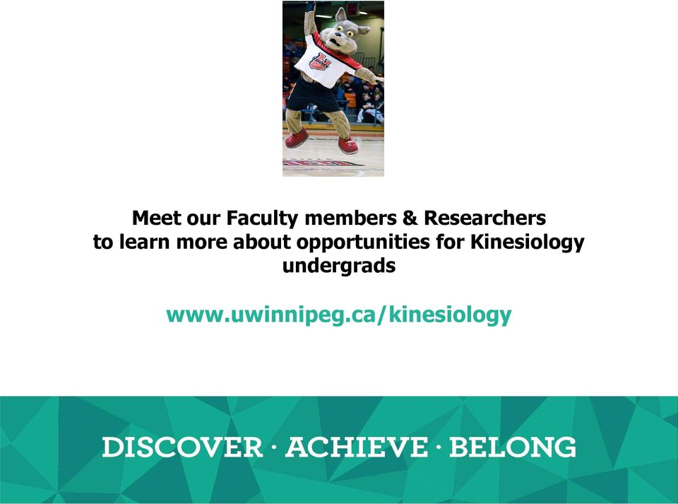 opportunities for Kinesiology