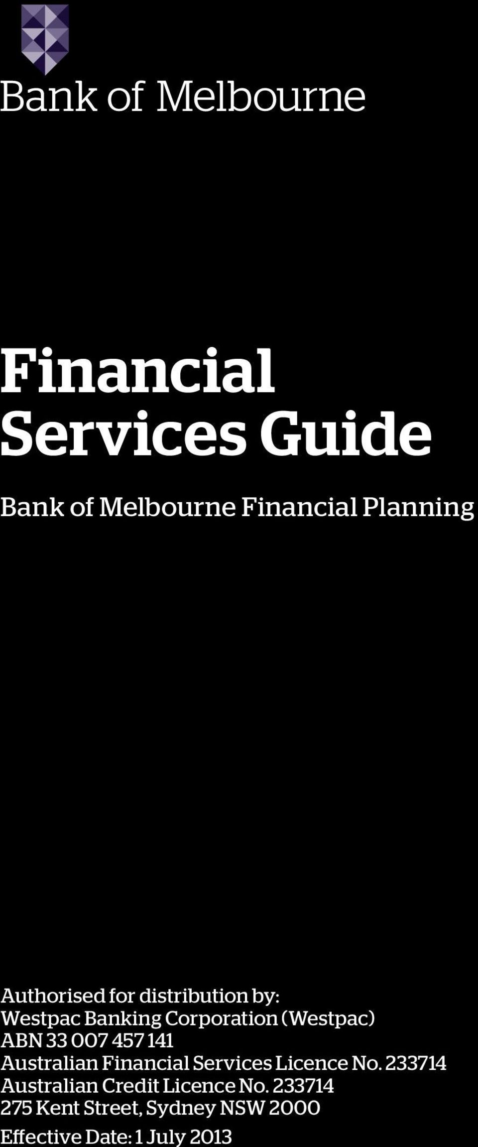 141 Australian Financial Services Licence No.