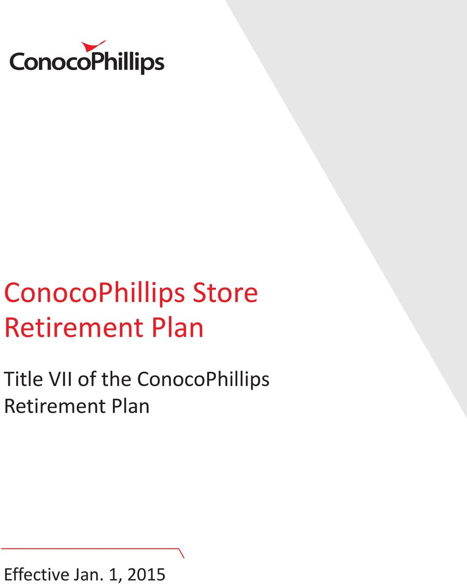 of the ConocoPhillips