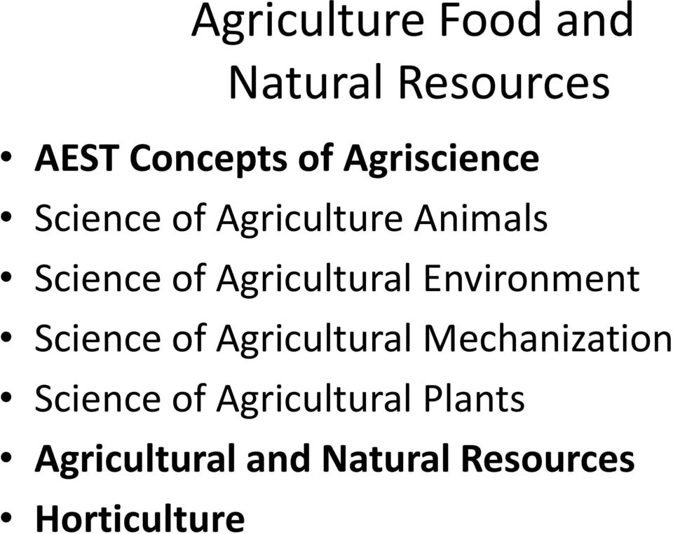 Agricultural Environment Science of Agricultural Mechanization