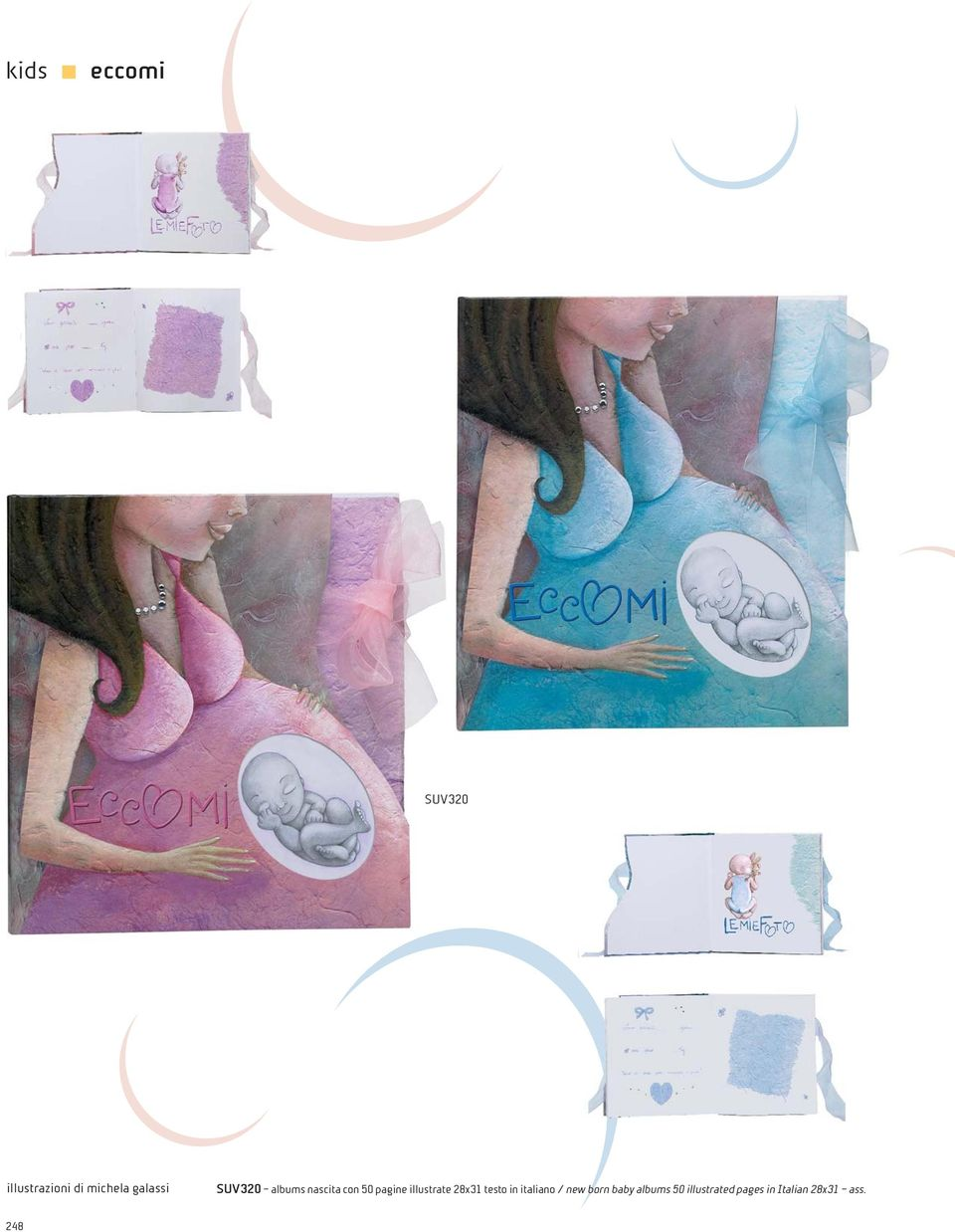 28x31 testo in italiano / new born baby albums