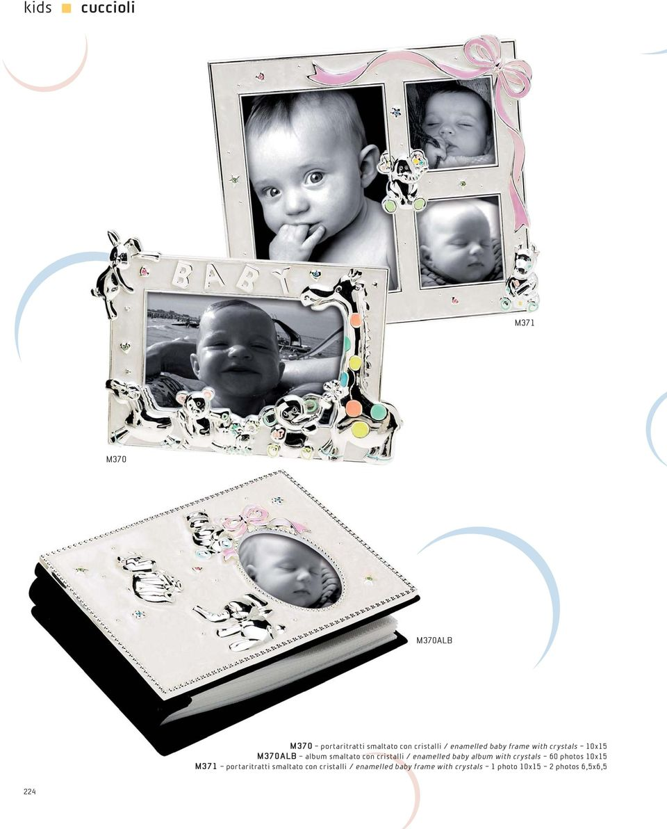 / enamelled baby album with crystals 60 photos 10x15 M371 portaritratti