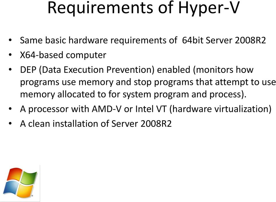 stop programs that attempt to use memory allocated to for system program and process).