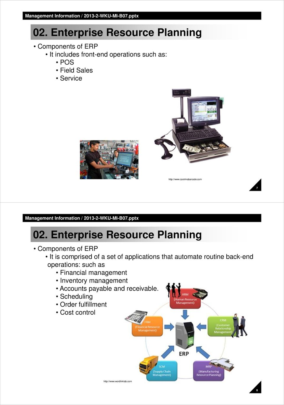 Enterprise Resource Planning Components of ERP It is comprised of a set of applications that automate routine
