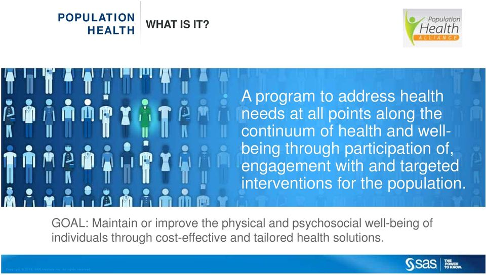 wellbeing through participation of, engagement with and targeted interventions for the