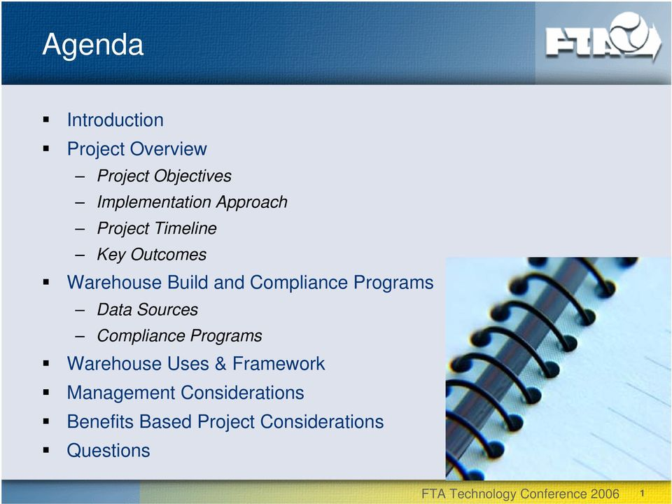 Programs Data Sources Compliance Programs Warehouse Uses & Framework