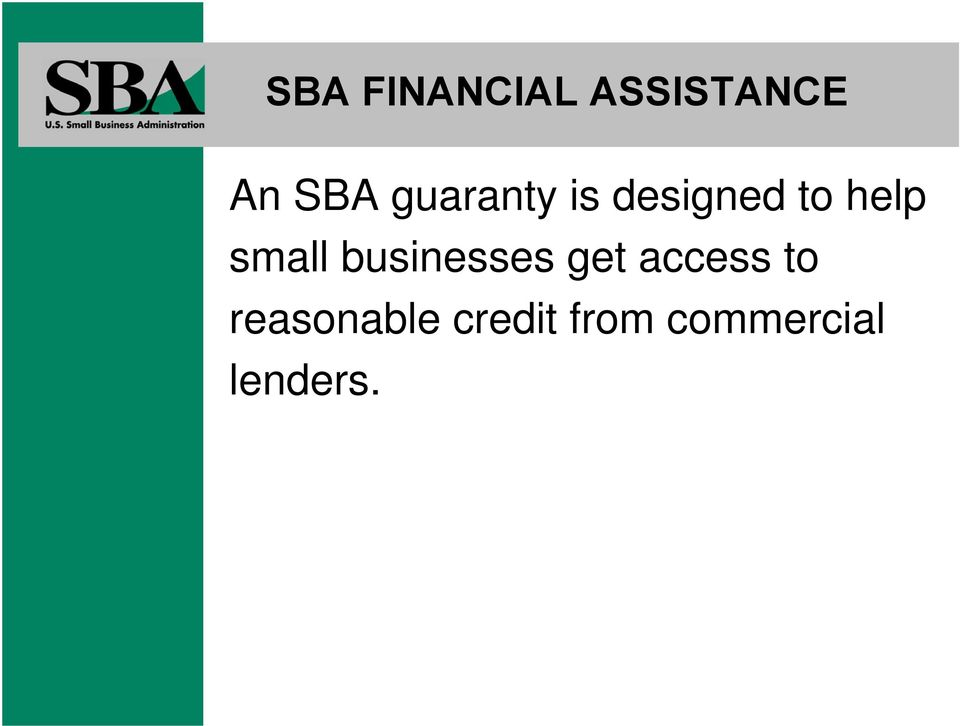 small businesses get access to