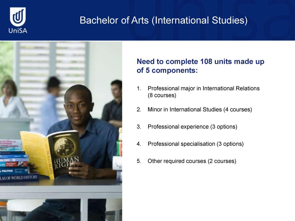Minor in International Studies (4 courses) 3.
