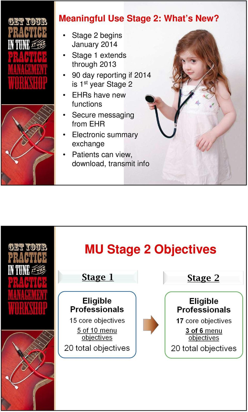 if 2014 is 1 st year Stage 2 EHRs have new functions Secure messaging from