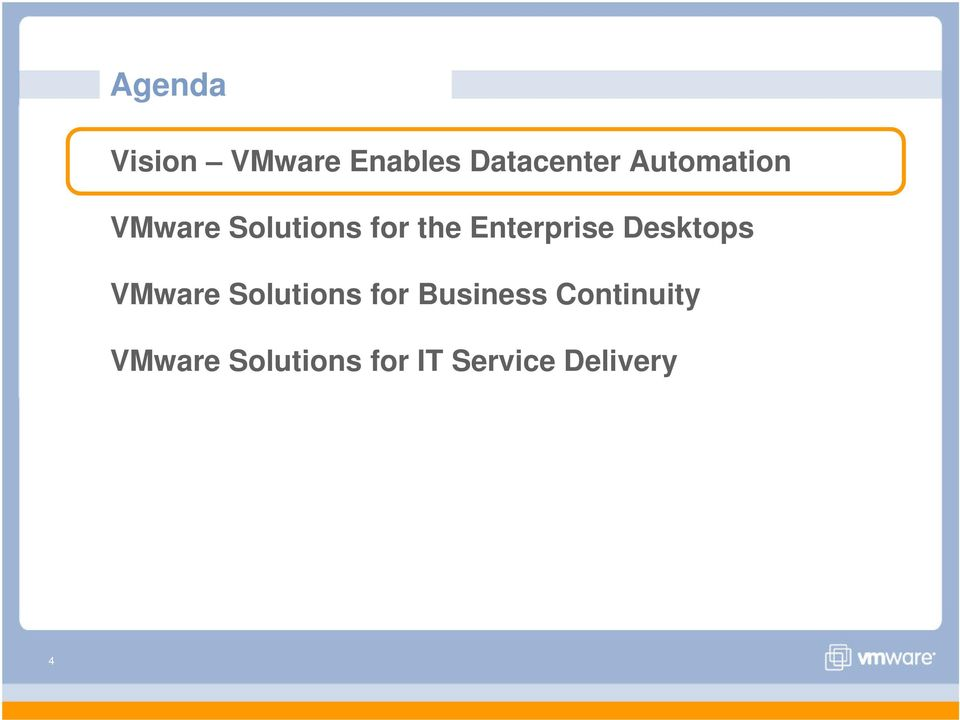 Enterprise Desktops VMware Solutions for