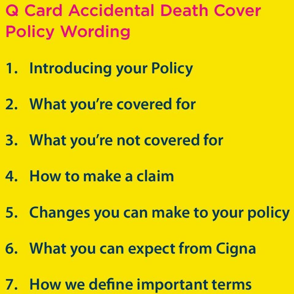 What you re not covered for 4. How to make a claim 5.
