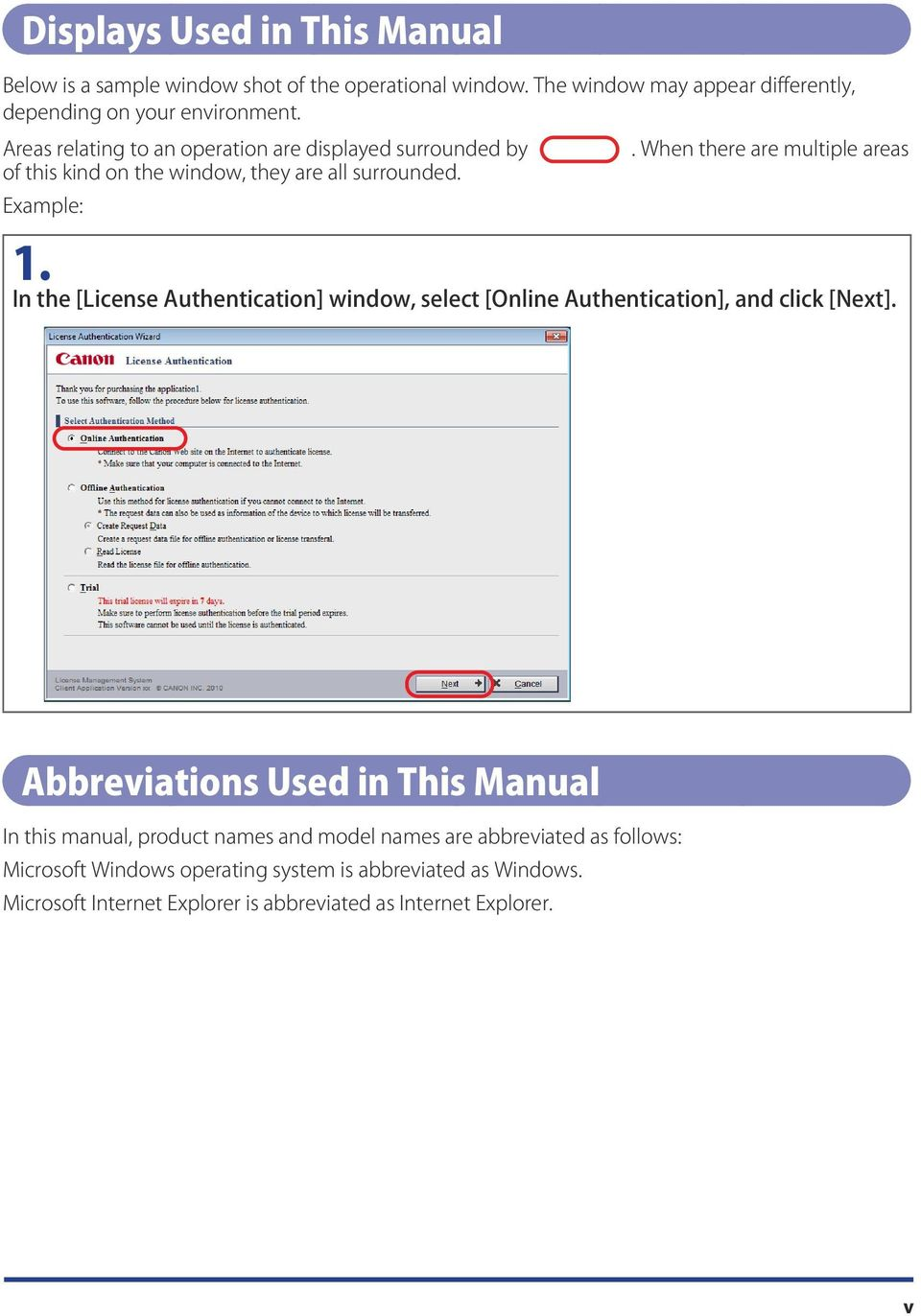 In the [License Authentication] window, select [Online Authentication], and click [Next].