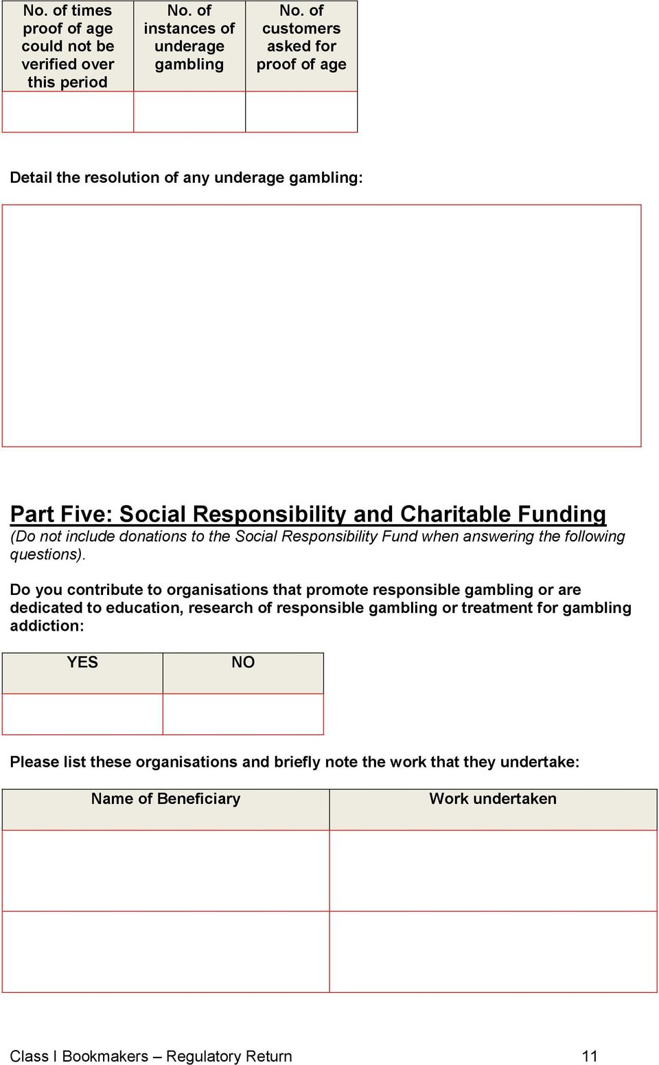 the Social Responsibility Fund when answering the following questions).