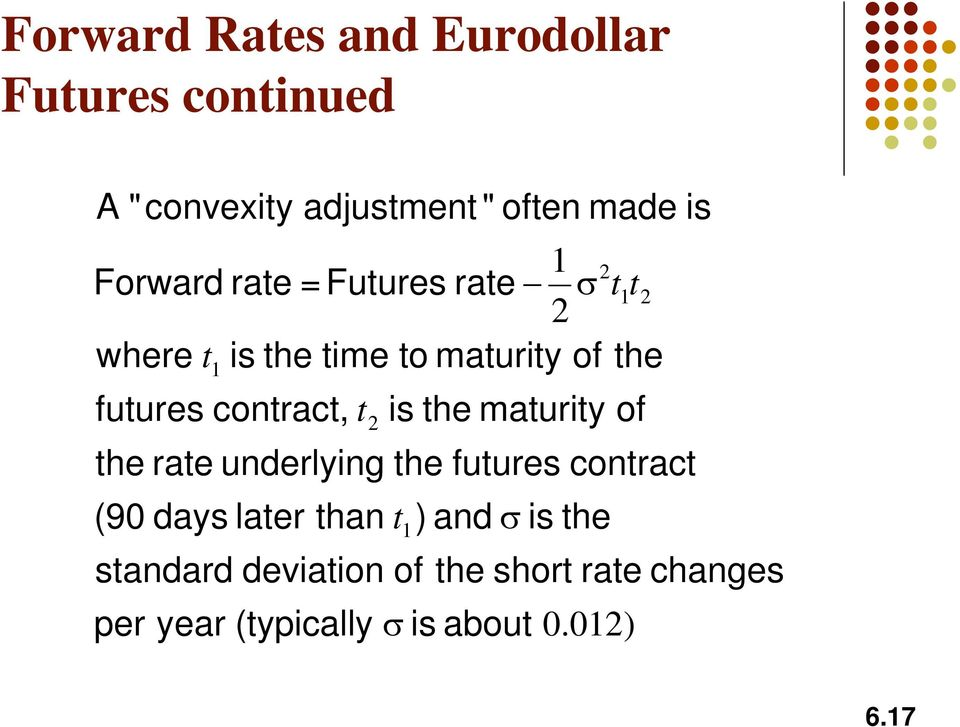 standard devaton of year t (typcally 2 the rate underlyng the futures contract than s the