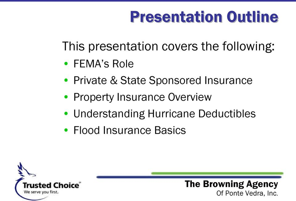 Sponsored Insurance Property Insurance Overview