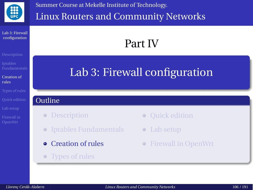 Linux Routers and Community Networks Part