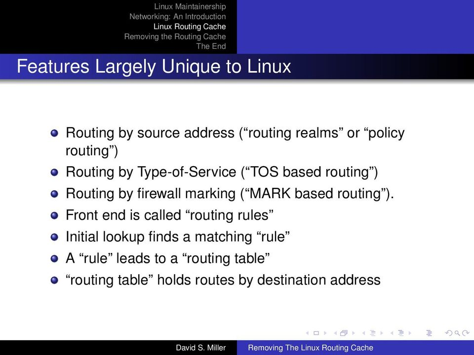 MARK based routing ).