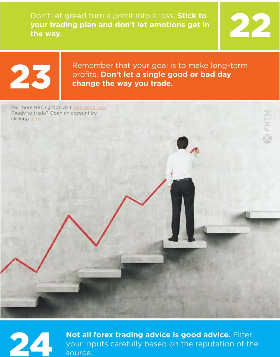 22 23 Remember that your goal is to make long-term profits.
