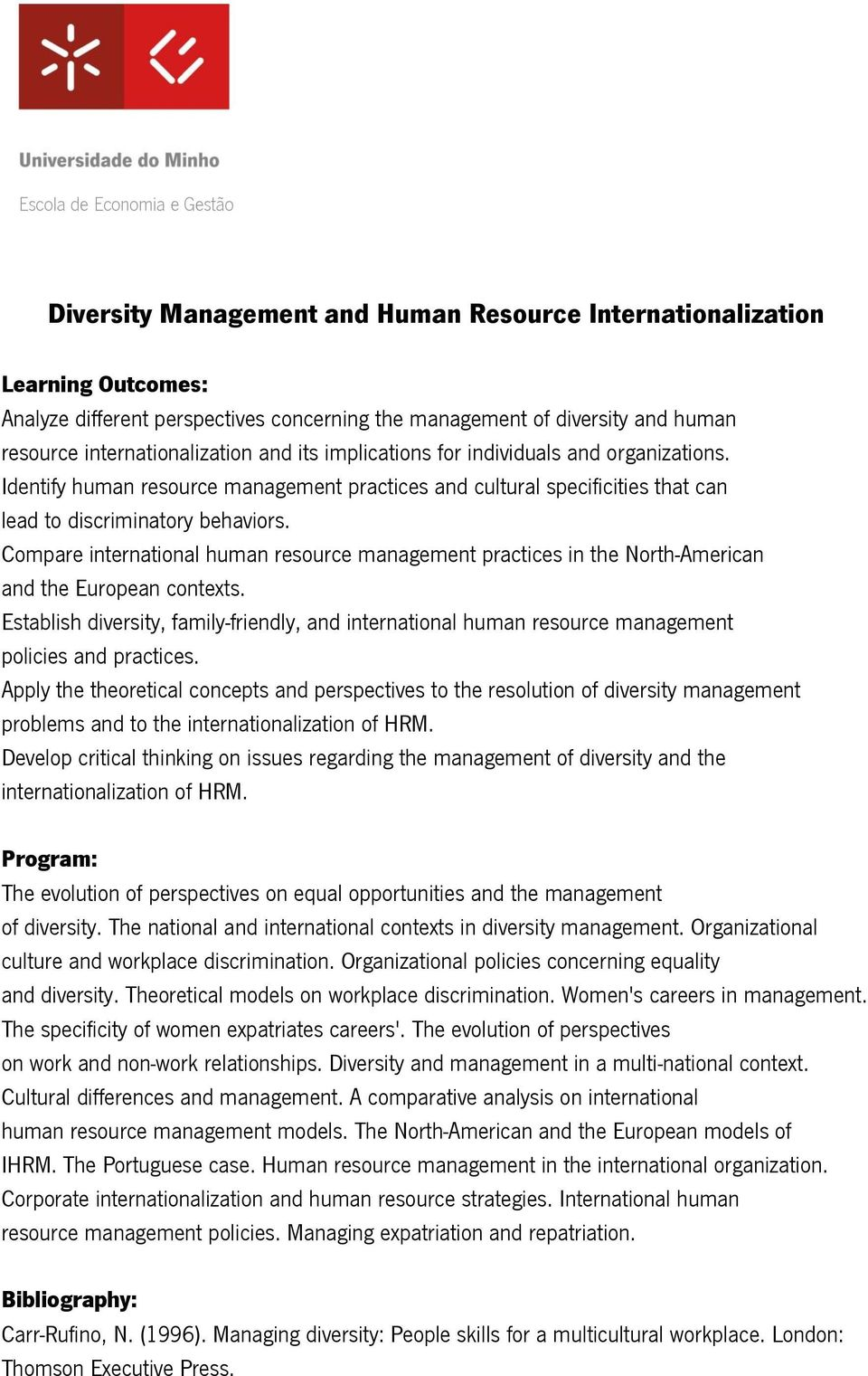 Compare international human resource management practices in the North-American and the European contexts.
