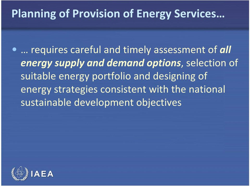 selection of suitable energy portfolio and designing of energy
