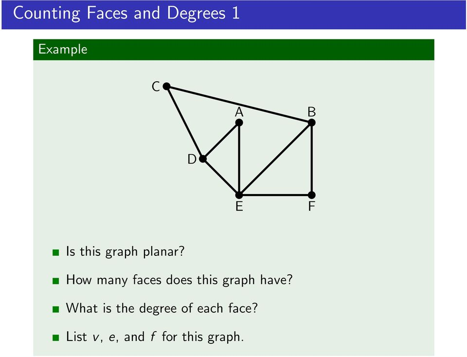 How many faces does this graph have?