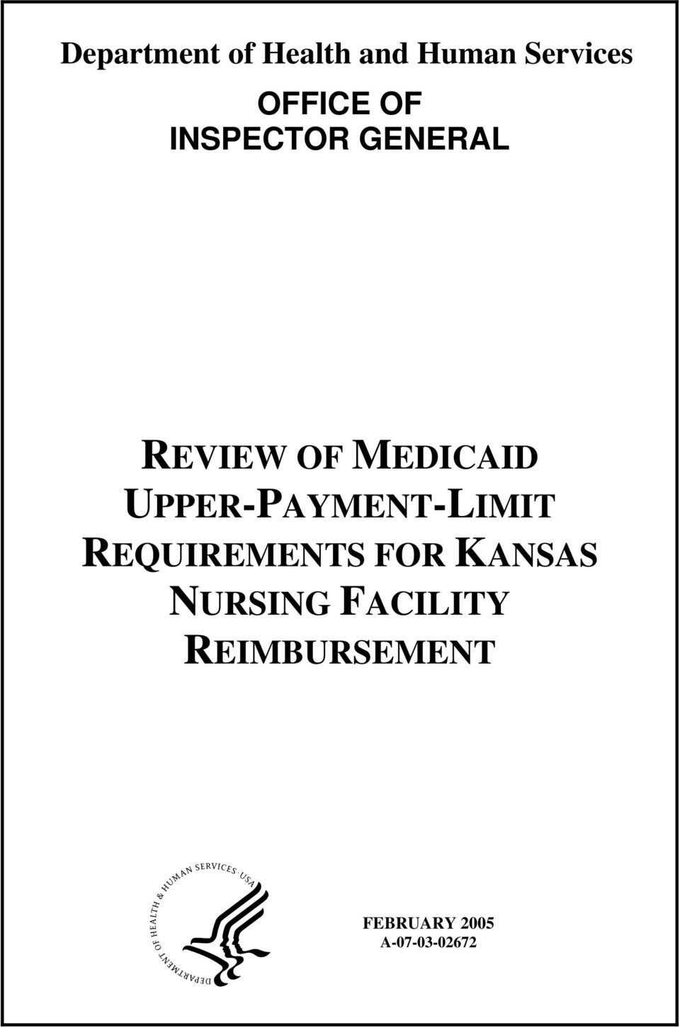 UPPER-PAYMENT-LIMIT REQUIREMENTS FOR KANSAS