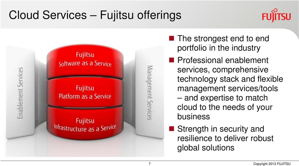 flexible management services/tools and expertise to match cloud to the needs of