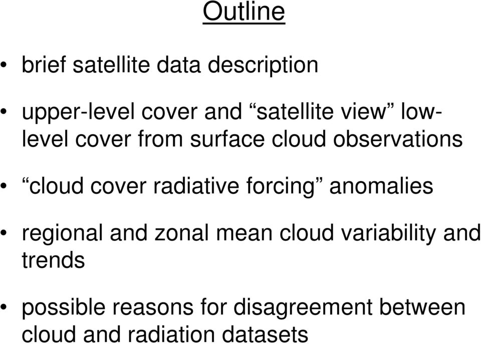 cover radiative forcing anomalies regional and zonal mean cloud