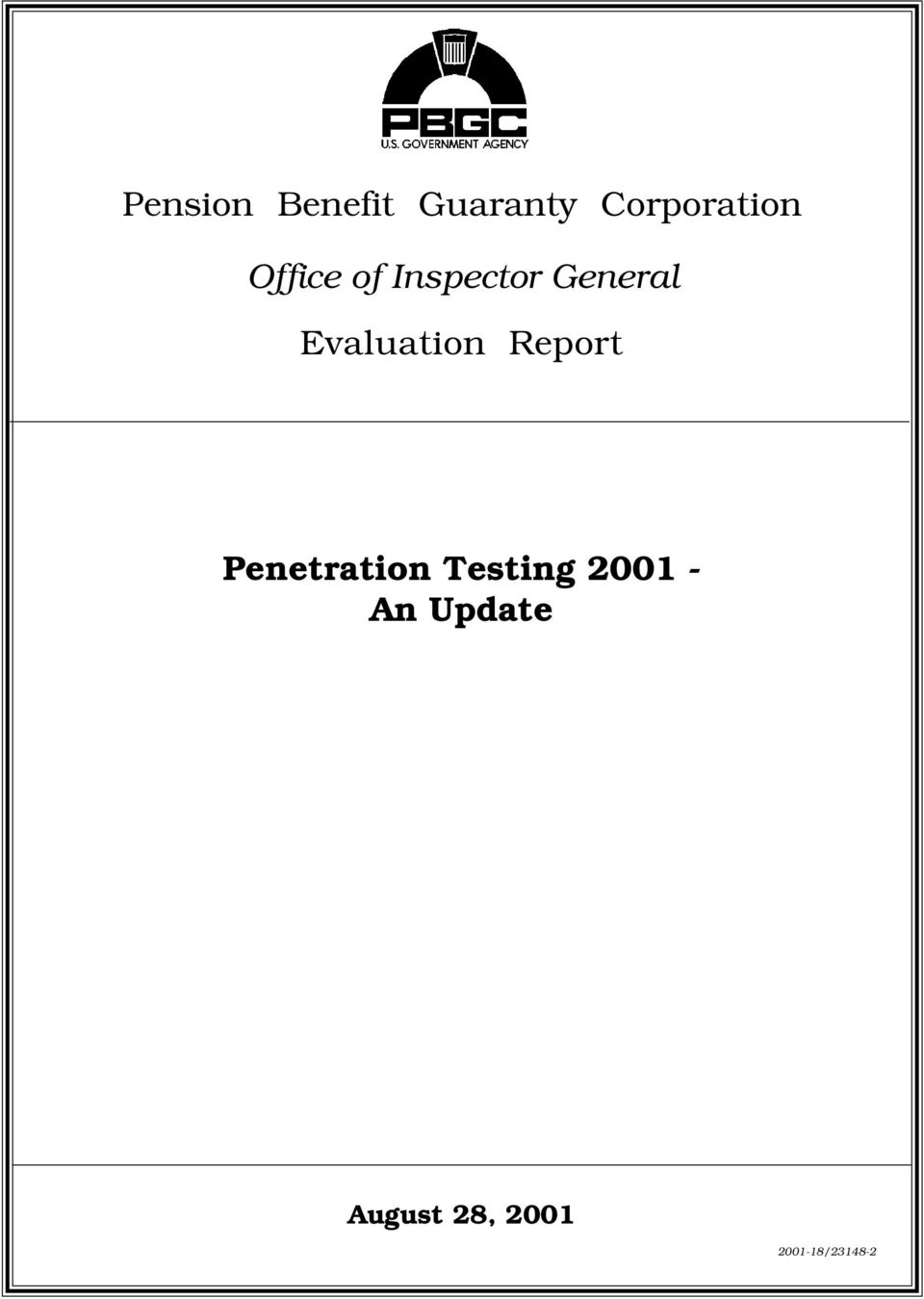 Evaluation Report Penetration Testing