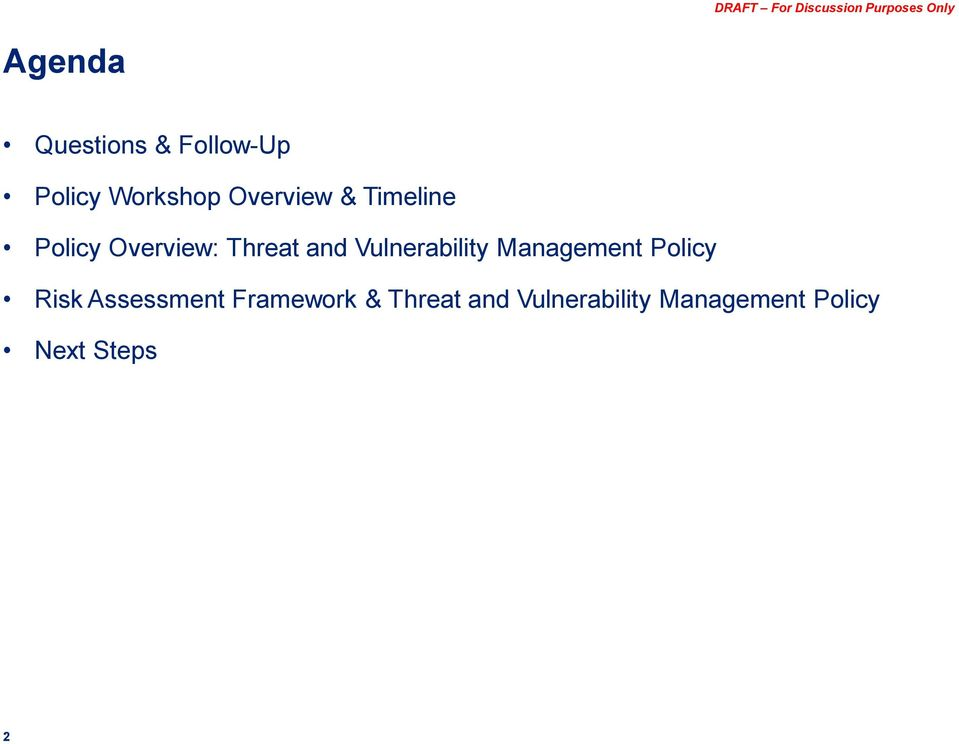 Vulnerability Management Policy Risk Assessment