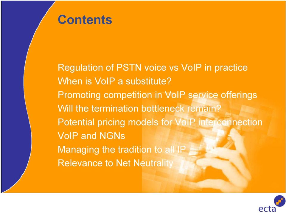 Promoting competition in VoIP service offerings Will the termination