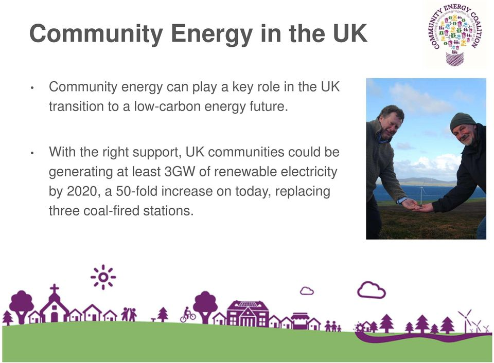 With the right support, UK communities could be generating at least 3GW