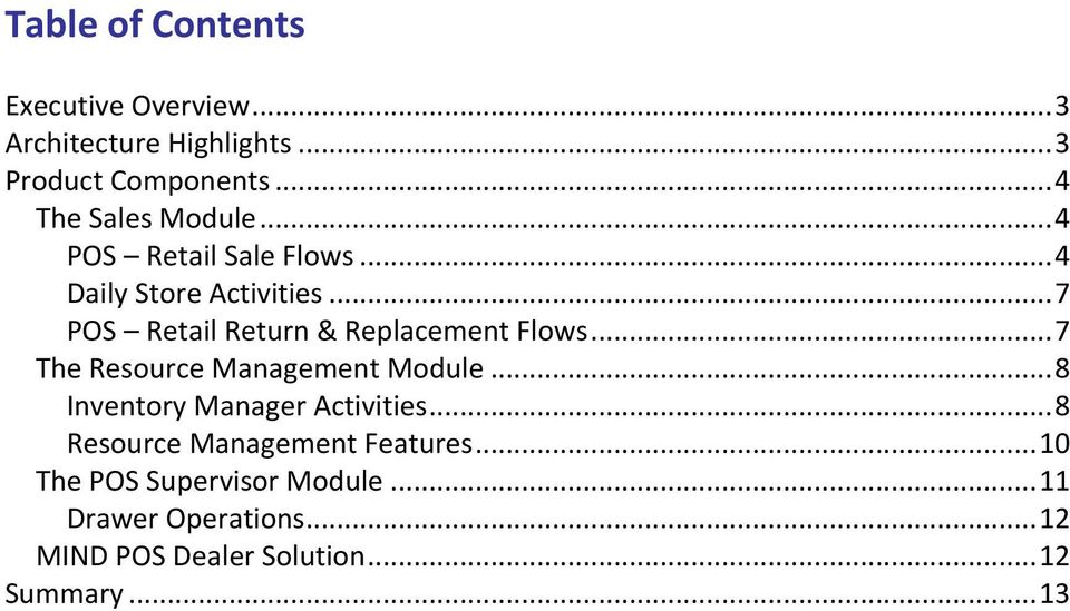 .. 7 POS Retail Return & Replacement Flows... 7 The Resource Management Module.