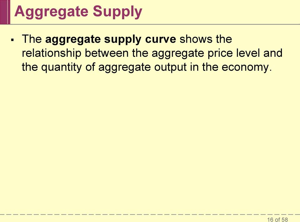 aggregate price level and the quantity