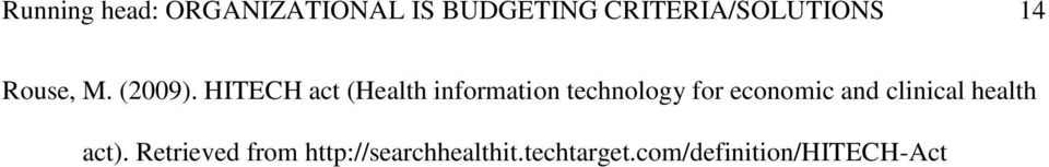 HITECH act (Health information technology for economic and