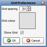 View Menu Snap to Grid View Menu Grid Preferences When the snap to grid is switched on (the default is for this to be switched off) you will notice that moving elements around the grid you will only