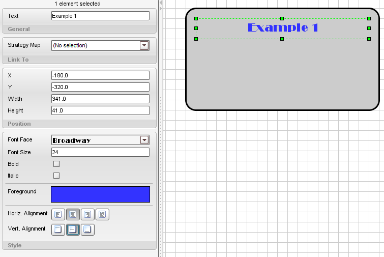 Adding some Text We can now select the Draw Text tool, and draw a square within the grey rectangle where we can enter some text.