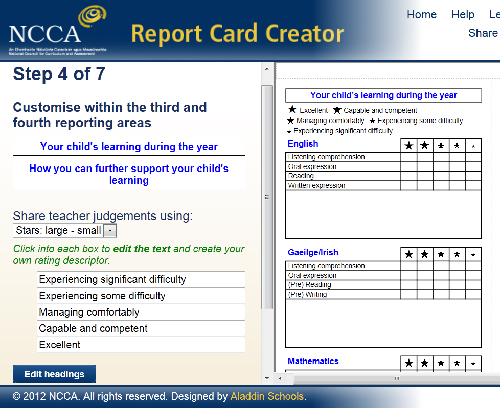 user guide 1 using the report card creator revised introduction pdf