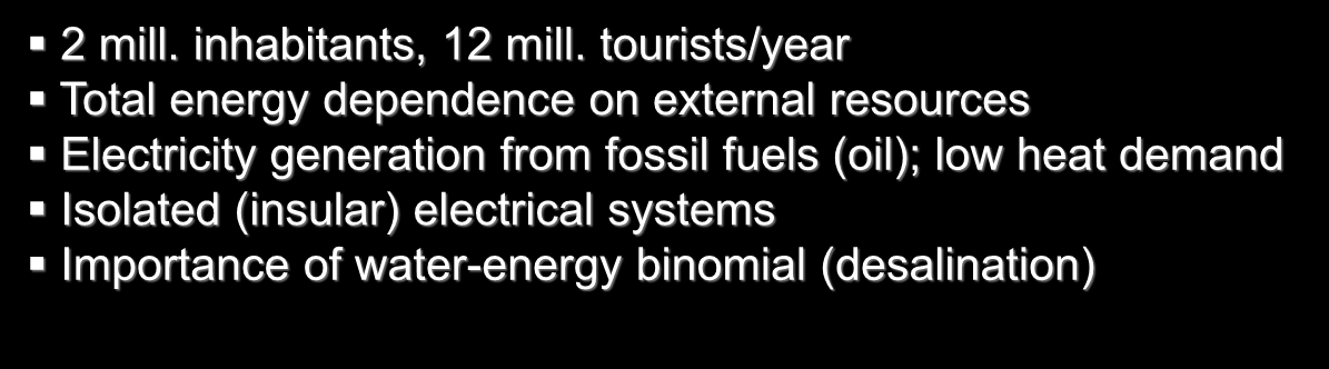 The Canary Islands (Spain) Energy Framework 2 mill.
