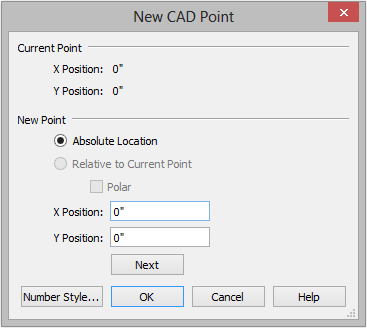 Chief Architect X7 User s Guide To create a plot plan polyline 1. Select CAD> Points> Input Point to open the New CAD Point dialog. See Input Point on page 1055 of the Reference Manual. 2.