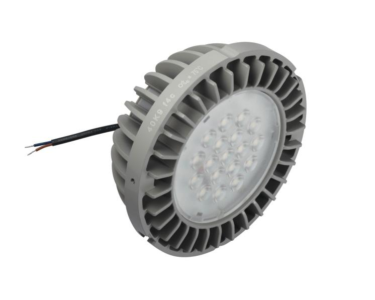 PrevaLED COIN 111 AC PRELIMINARY Technical Information Product features Integrated driver, heat sink and lens optics Fits in most existing R111 traditinoal luminaires Narrow beam angles, 24 o and 40